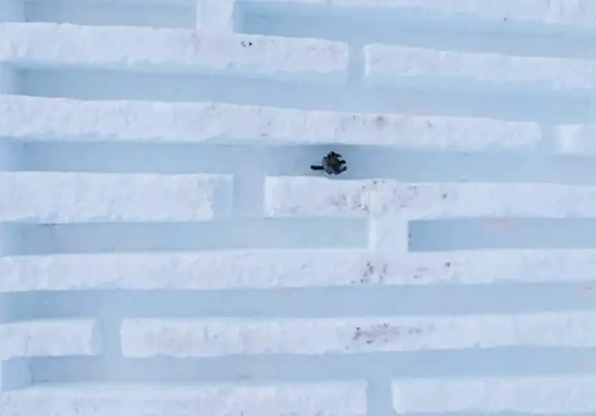 Labyrinthe neige La Clusaz