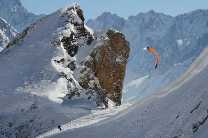 Du snowkite pour remplacer le télésiège près du Lautaret ?