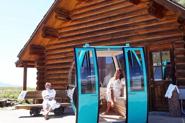 Une télécabine démarre une nouvelle vie et se transforme en sauna !