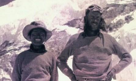 Tenzing Norgay et Edmund HIllary