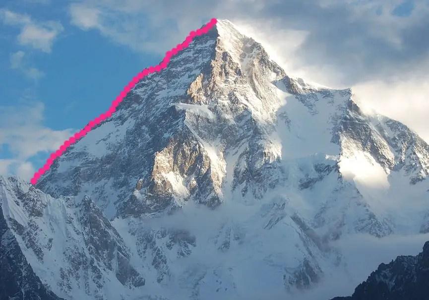 K2 arête ouest