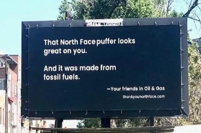 The North Face meilleur ennemi de l'industrie pétrolière !