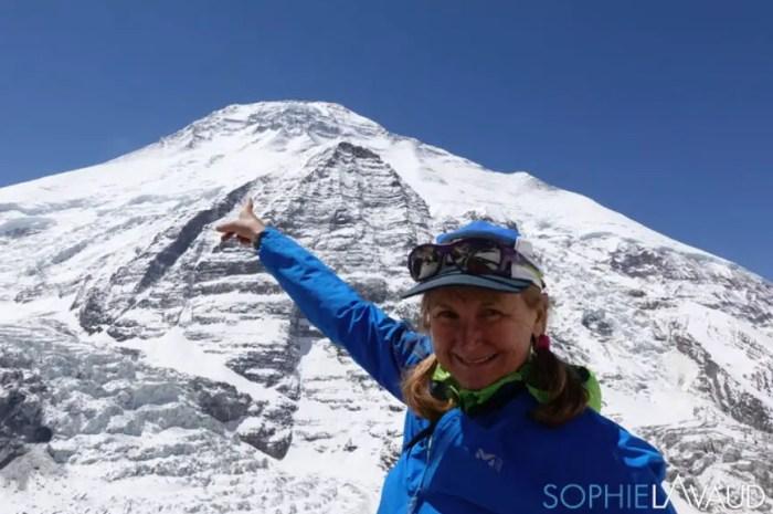 La Franco-suisse Sophie Lavaud de retour au Dhaulagiri !