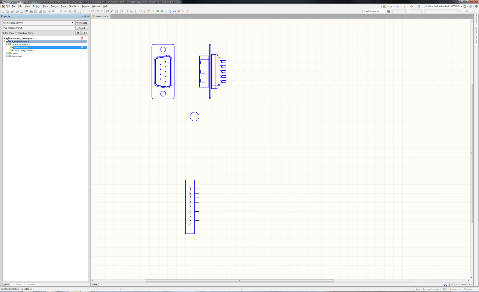 Cable Schematic Drawing