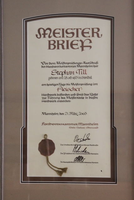 Fleischer Meister Certificate