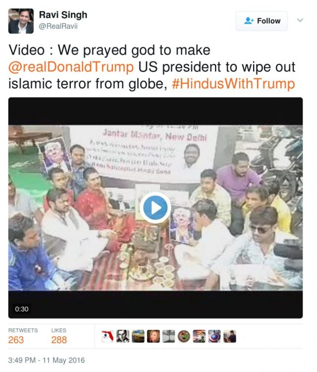 VIdeo: we prayed god to make realdonaldtrump US president to wipe out islamic terror from globe.