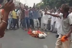 sikh -effigy