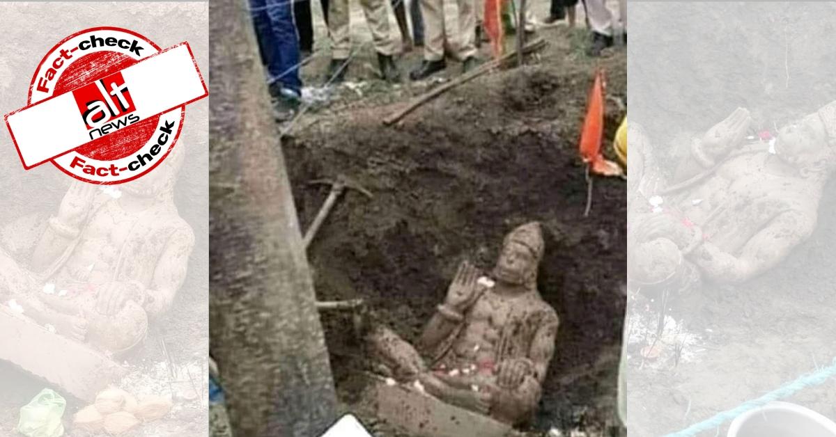 अयोध्या में मस्जिद के लिए आवंटित ज़मीन पर हनुमान मूर्ति मिलने के दावे से MP की तस्वीर प्रसारित