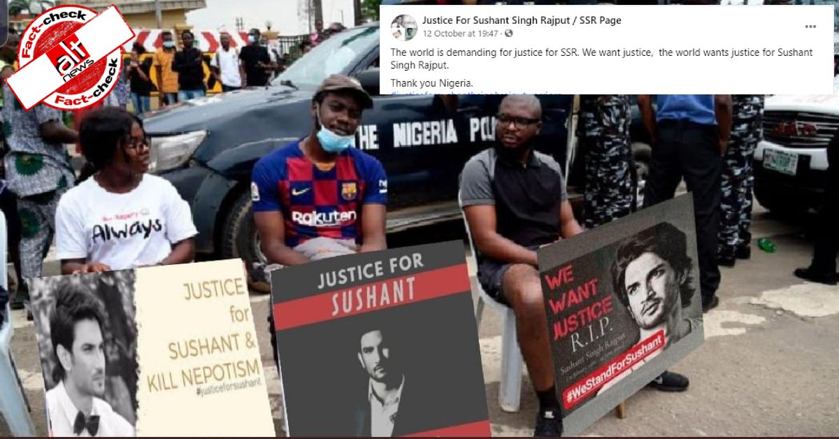 फ़ैक्ट-चेक : सुशांत सिंह राजपूत को इंसाफ़ दिलाने के लिए नाइजीरिया के लोगों ने प्रदर्शन किया?