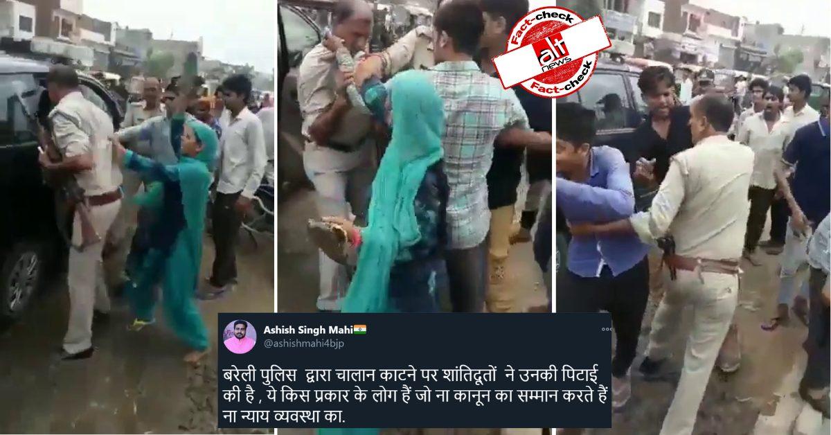 2018 में विवाद के दौरान गाज़ियाबाद में हुई थी पुलिस की पिटाई, वीडियो बरेली का बताकर वायरल