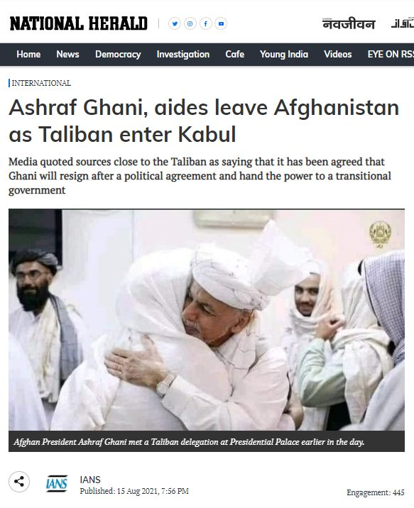 2021 08 17 16 45 14 Ashraf Ghani aides leave Afghanistan as Taliban enter Kabul