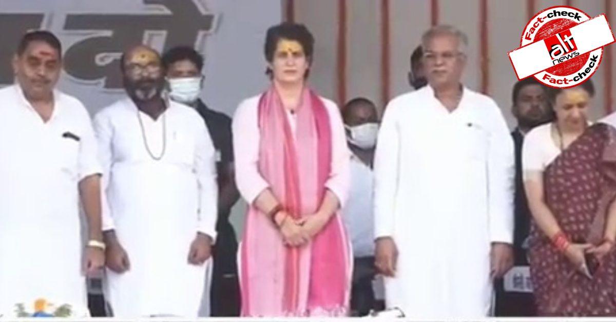 संबित पात्रा ने प्रियंका गांधी की रैली का अधूरा हिस्सा शेयर कर मुस्लिम तुष्टीकरण का आरोप लगाया