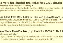 iit fees doubled 2 lakhs