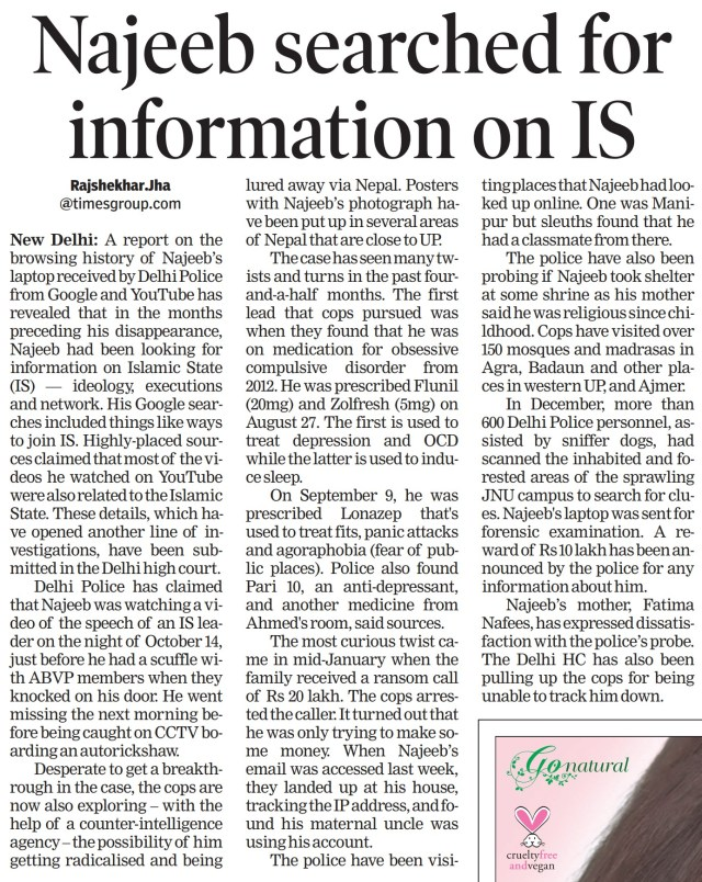 isis najeed search for information on ISI