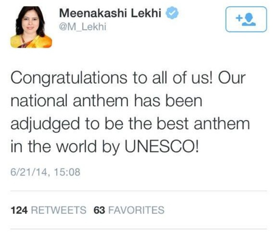 Congratulations to all of us! our national anthem has been adjudged to be the best anthem in the world by UNESCO!