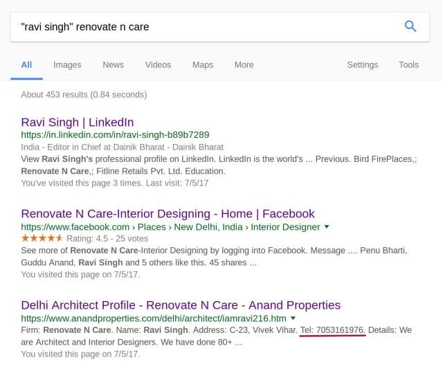 Ravi Singh renovate n care