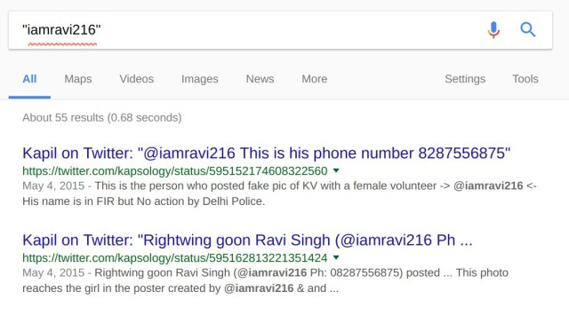 Google Search Results for iamravi216