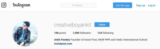 Ankit Pandey Instagram Profile