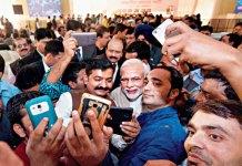 Modi media selfie
