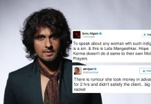 Sonu Nigam's tweet for Lata and Abhijeet