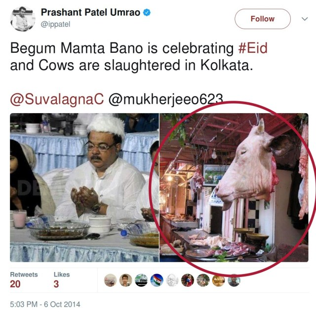 Prashant Patel circulates fake image