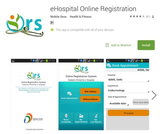 eHospital Online Registration