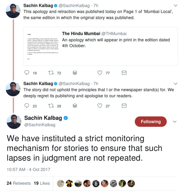 Sachin Kalbag apology