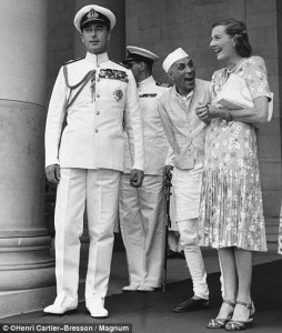 Nehru with Edwina Mountbatten