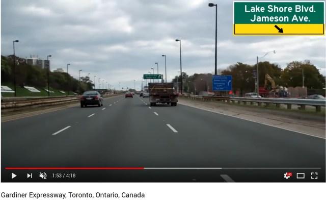 Gardiner Expressway video