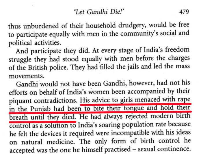 Gandhi's advice to girls