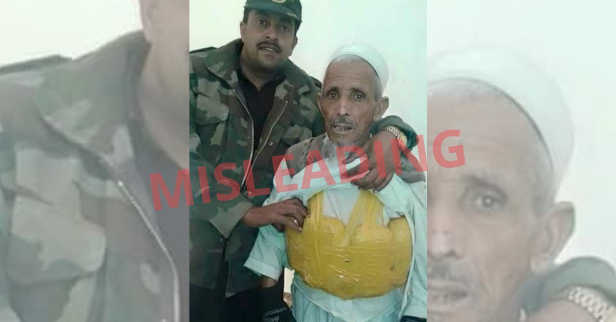 No, this is not an image of a suicide bomber caught by the Indian army - Alt News