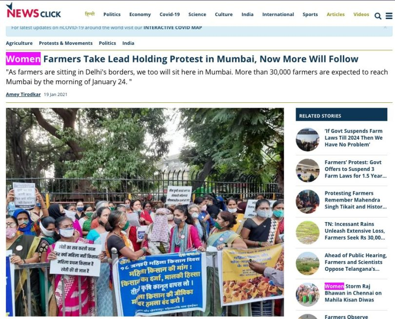Video of Mumbai Kisan rally falsely shared as farmers' protest 'hijacked' by Muslims