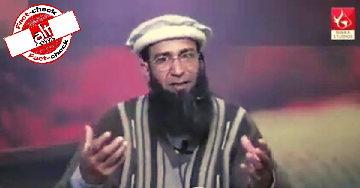 Old video from Pak falsely viral as Taliban chief secy praising BJP, RSS