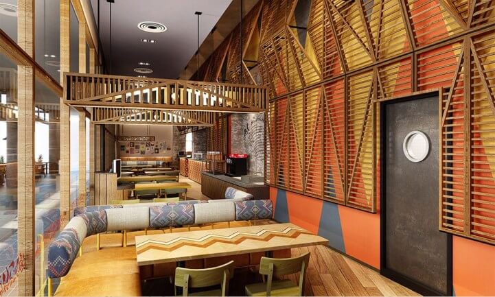 Nando's Vivacity Renovation and Furniture Fitting Works | Internal View