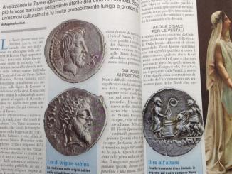 Quindici pagine della rivista 'Archeo' dedicate alle tavole eugubine