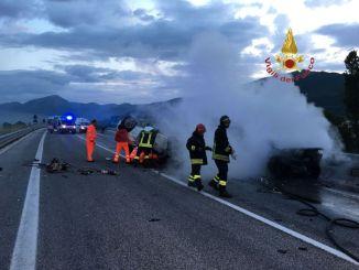 Incidente mortale a Gualdo Tadino, sulla nuova Flaminia tre morti, una carbonizzata