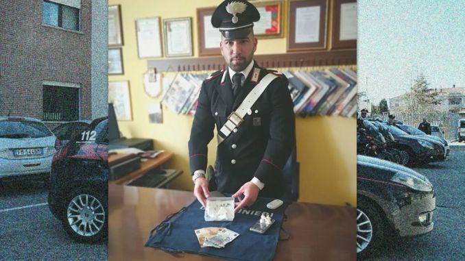 Stava spacciando cocaina, arrestato dai Carabinieri di Valfabbrica