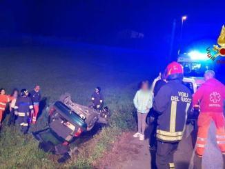 Auto si ribalta a Palazzetto una donna è rimasta ferita nell'incidente