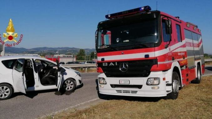 Ragazza ferita, incidente stradale a Gubbio, sulla 219