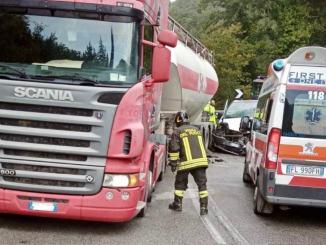 Caporeggiano di Gubbio, ferito in ospedale, incidente stradale sulla 291