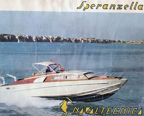 Pubblicità storica imbarcazione Speranzella II cantiere Canav