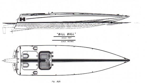 Bill Bull: viste sul piano orizzontale e verticale - disegni