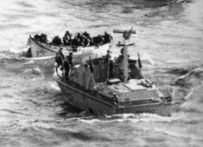 CP 233 impegnata nelle operazioni difficilissime di soccorso