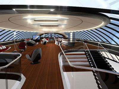 Interni scafo veloce RW 100 Luxury Superyacht