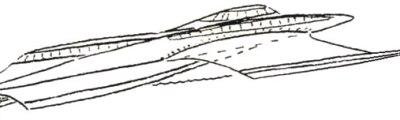 Barca con carena a triciclo rovescio