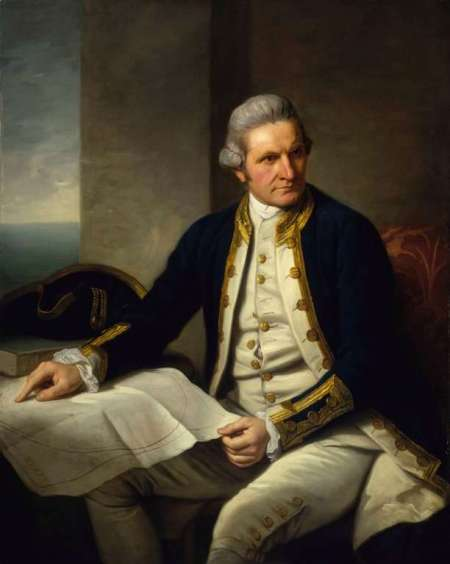James Cook dipinto del 1775 di Nathaniel Dance