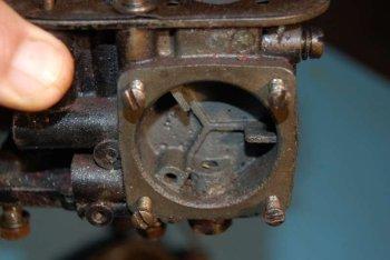 Carburatore Solex 44-7 smontato sede membrana pompetta ripresa