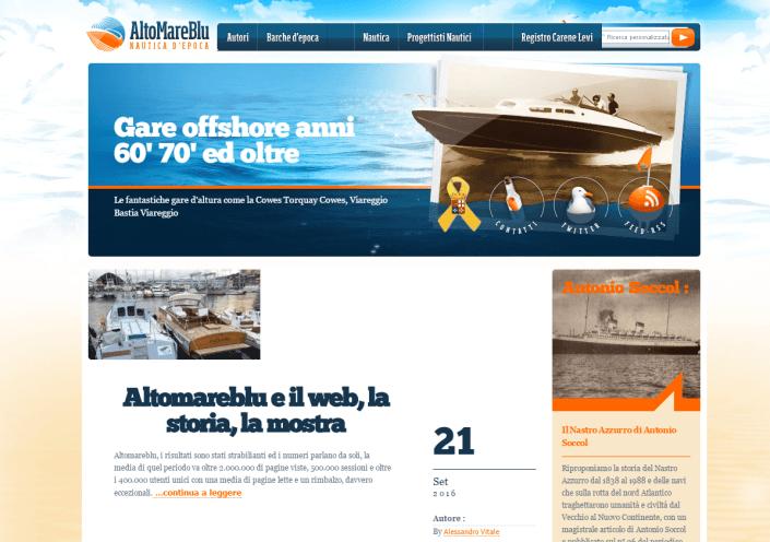Altomareblu e il web, la storia, la mostra