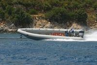 Gommone contrabbandiero albanese