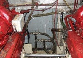 Motore d'epoca per Motovedetta Levi